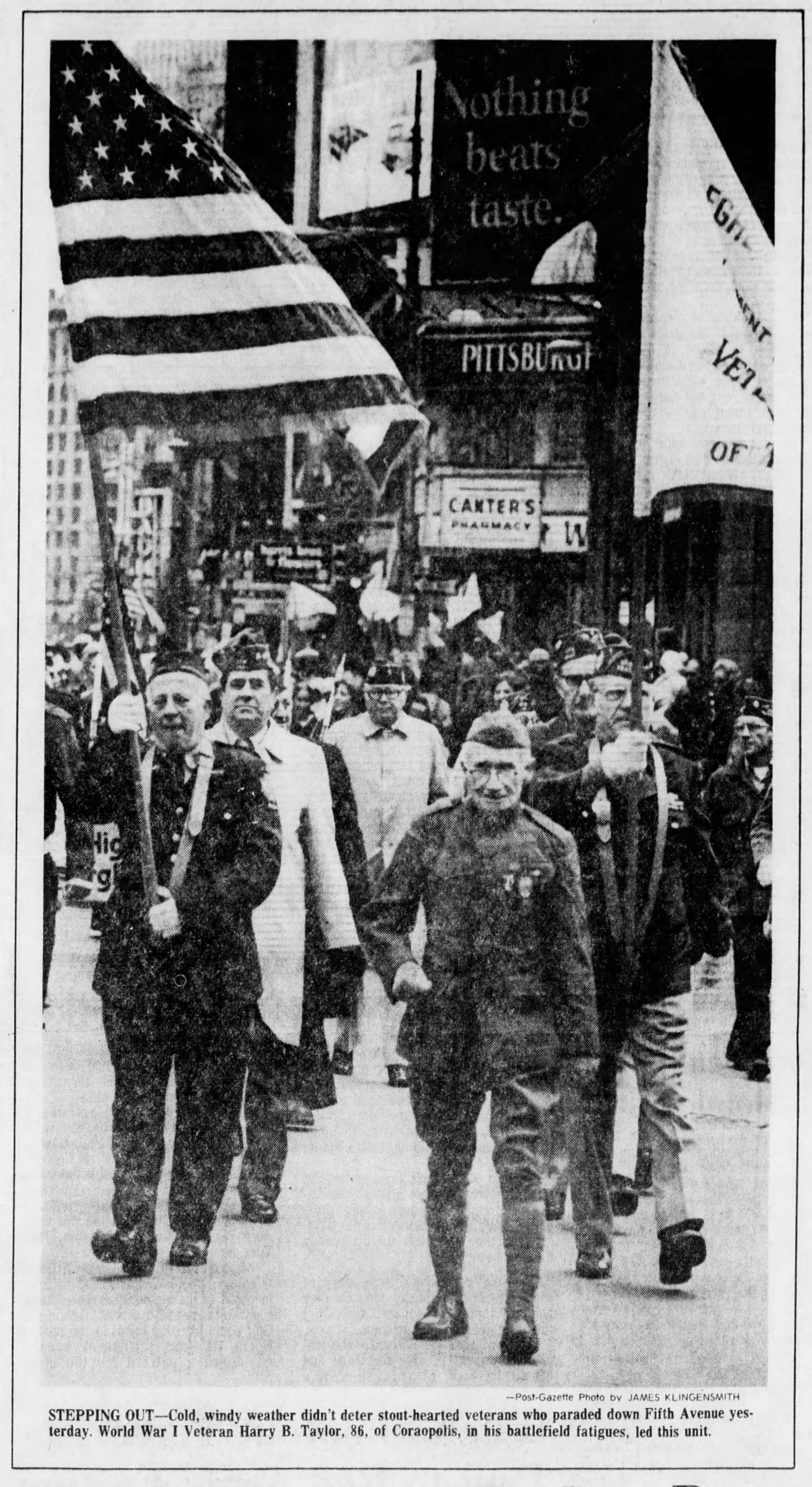 Photograph of Harry B. Taylor, P&LE Ticket Agent, Montour Junction stop