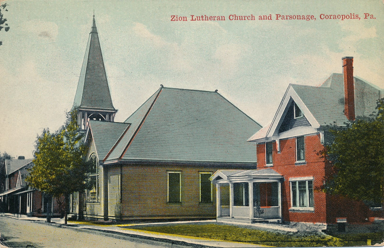 Zion Lutheran Church at State and Chestnut.