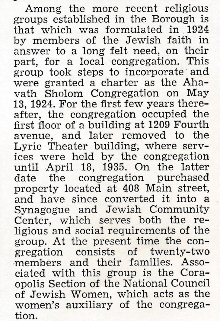 1937 Golden Jubilee Semi-Centennial of the Borough of Coraopolis by Record Publishing Co (p54)