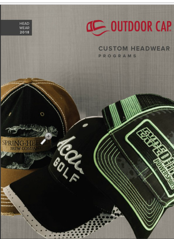 Outdoor cap 2018 Custom cap catalog
