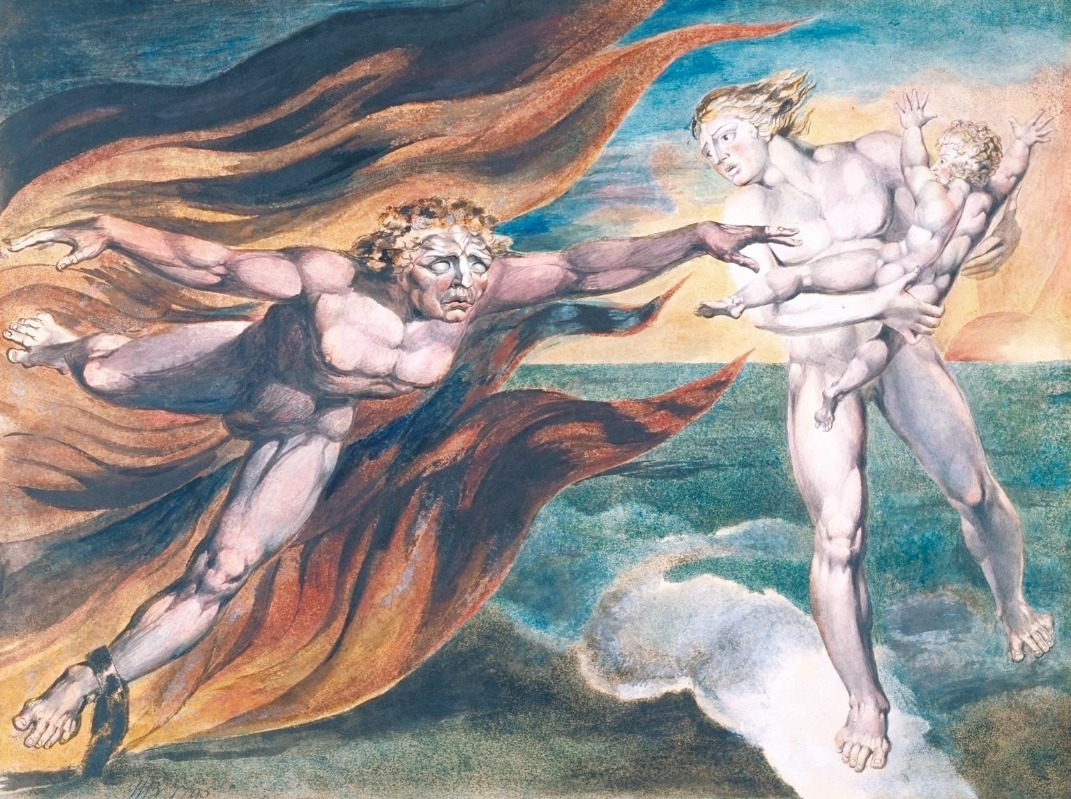 The Good and Evil Angels. Blake