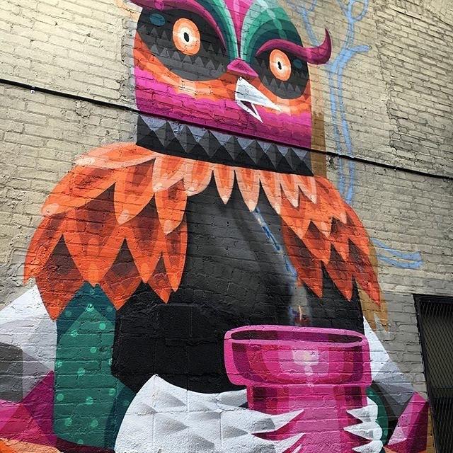 Repost from @eelcovirus | Work in process @bl_art Bushwick NYC #iameelco #art #mural @montanacans_usa @montanacans
