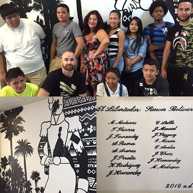 Bolivar! The crew from EBC High School for Public Service and Bushwick Leaders High School painted this mural as part of a 6 week ESL/Social Studies enrichment summer program.