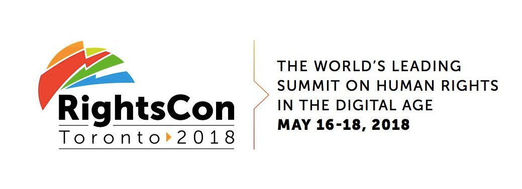 RightsCon will take place this year in Toronto from May 16-18. For more information, visit:  https://www.rightscon.org/