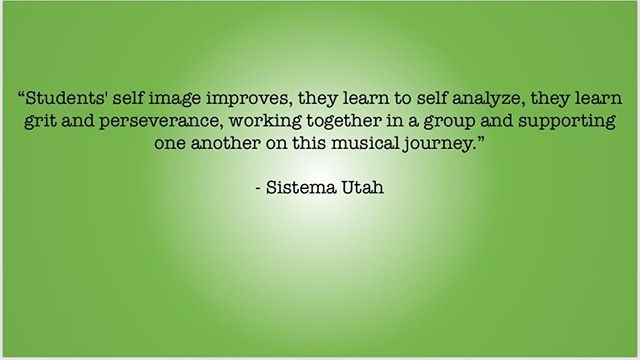 Another quote from one of our recipients, Sistema Utah! • • • • #elsistema #violins #viola #studentmusician #socialchange #musiceducationmatters #utah #guitars4gifts