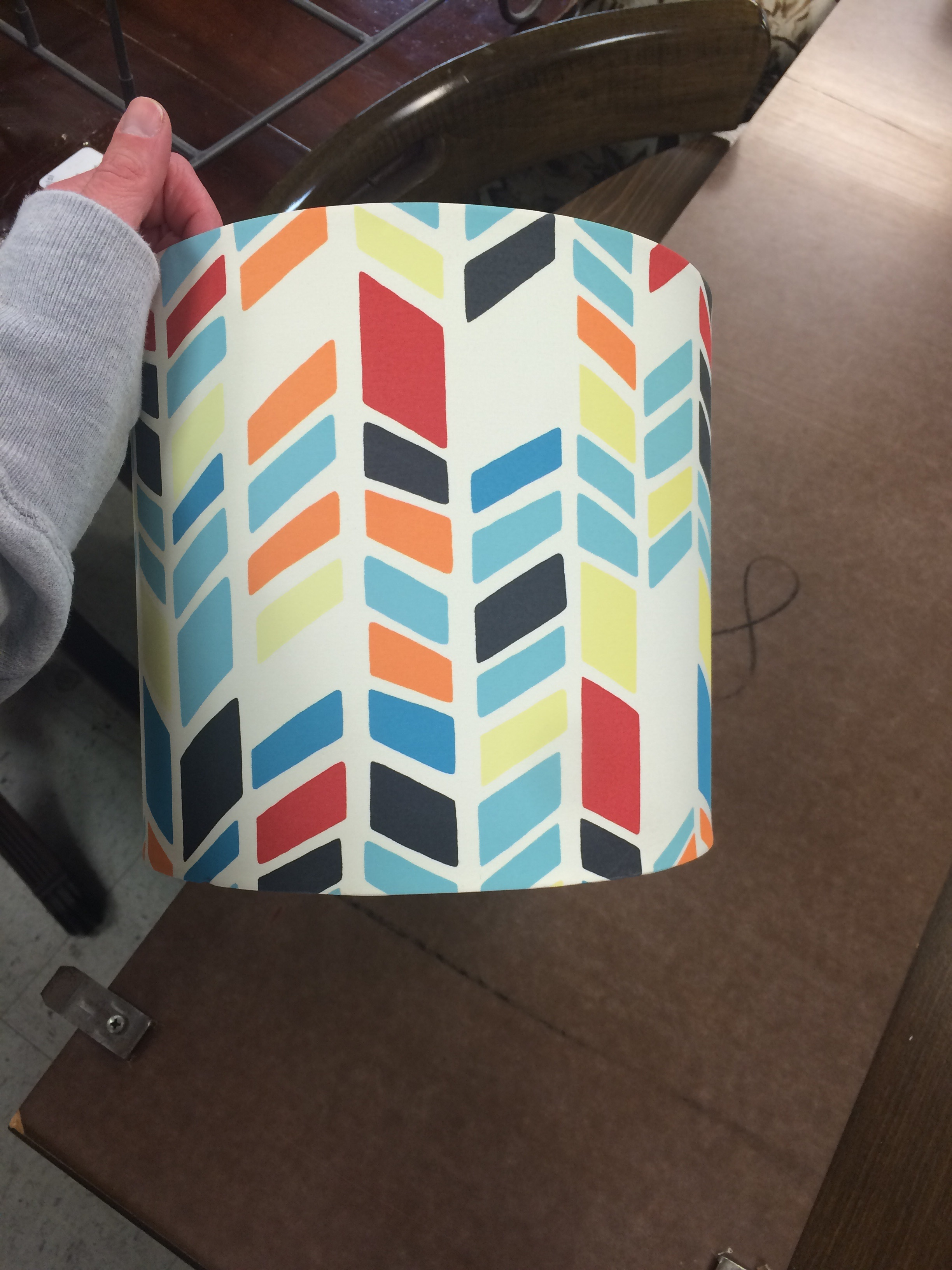 Thrifted Target lamp shade. || RustopiaConsulting.com