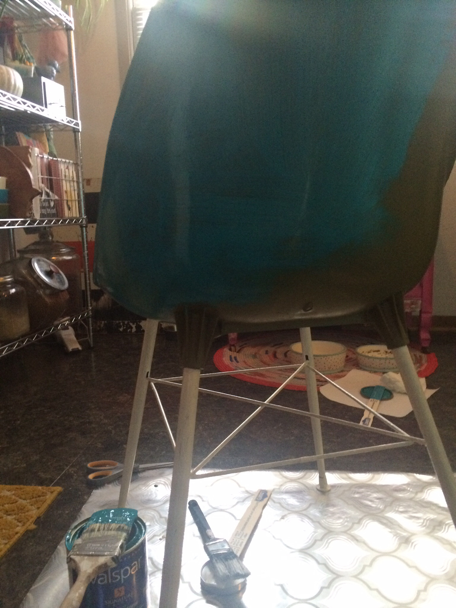 Vintage chair makeover in progress.    RustopiaConsulting.com