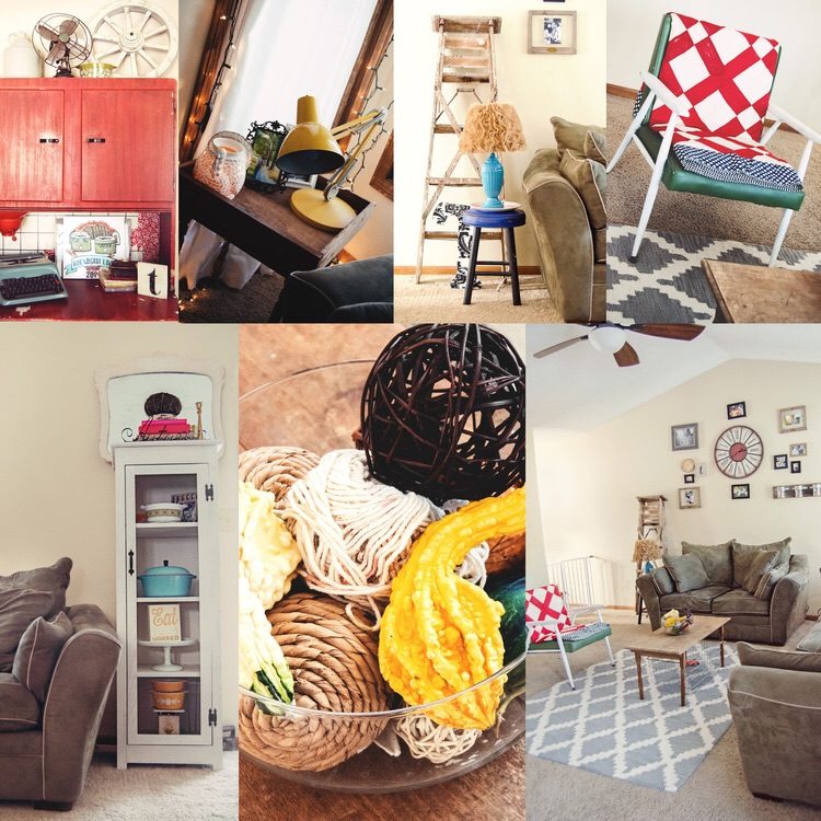 Collage of home interior decor pictures. || RustopiaConsulting.com