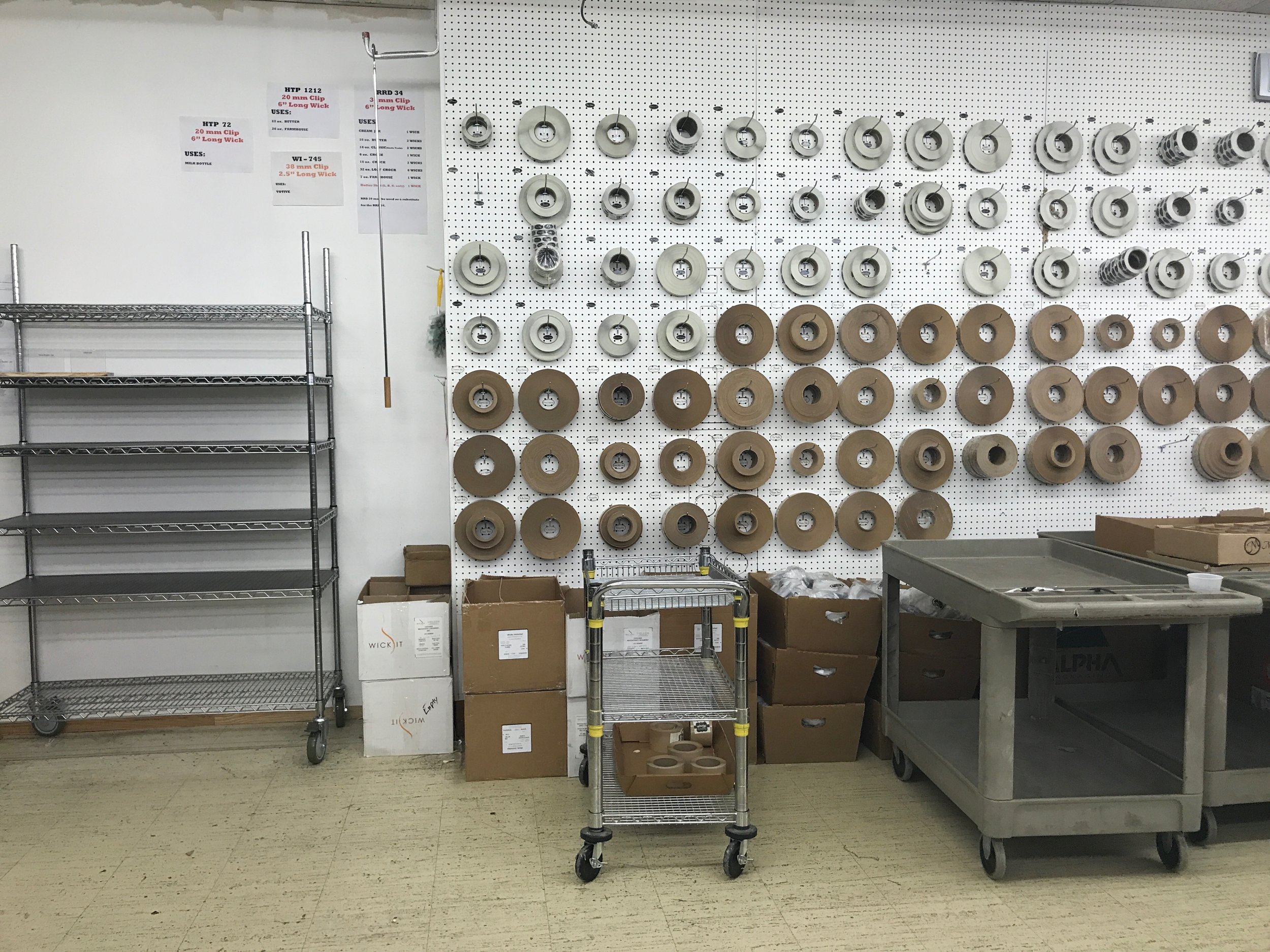 The Milkhouse Candle Company production room | RustopiaConsulting.com