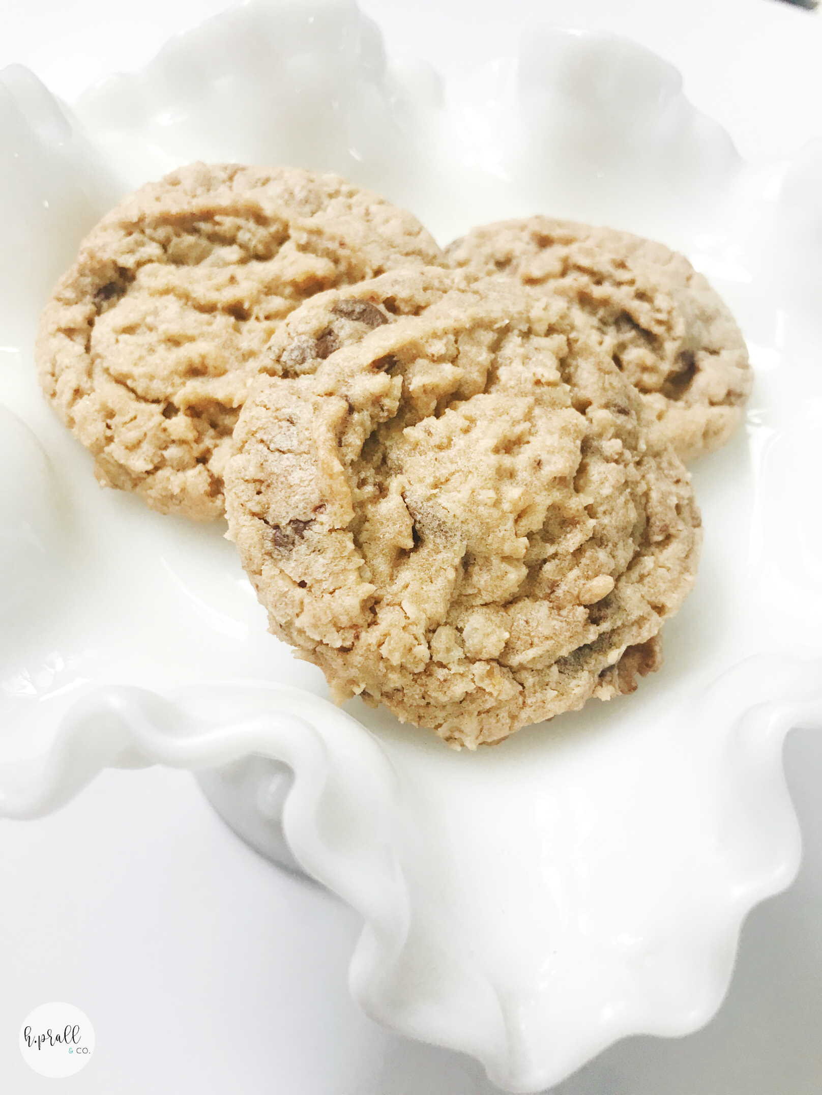 Freshly baked Oatmeal Chocolate Chip Cookies from  H.Prall & Co.