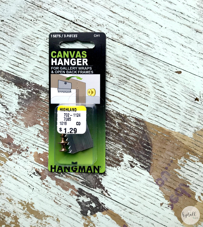 Canvas hanger hardware via  H.Prall & Co.