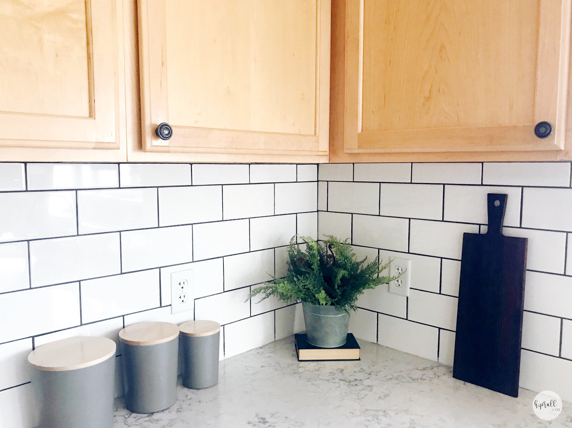 Kitchen counter styling from H.Prall & Co.