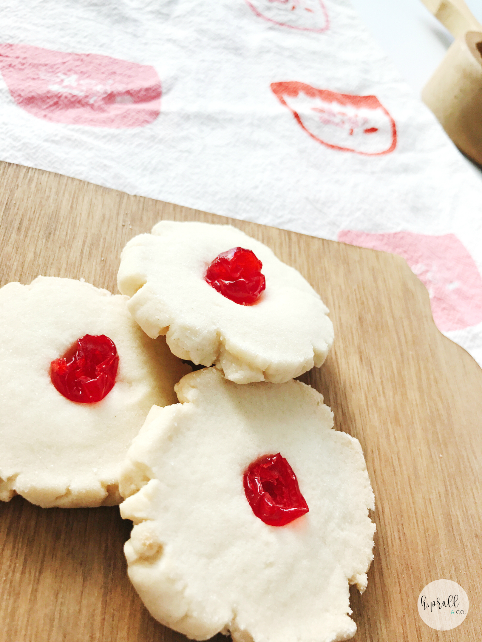 Holly Drop Cookies for Valentine's Day from H.Prall & Co.