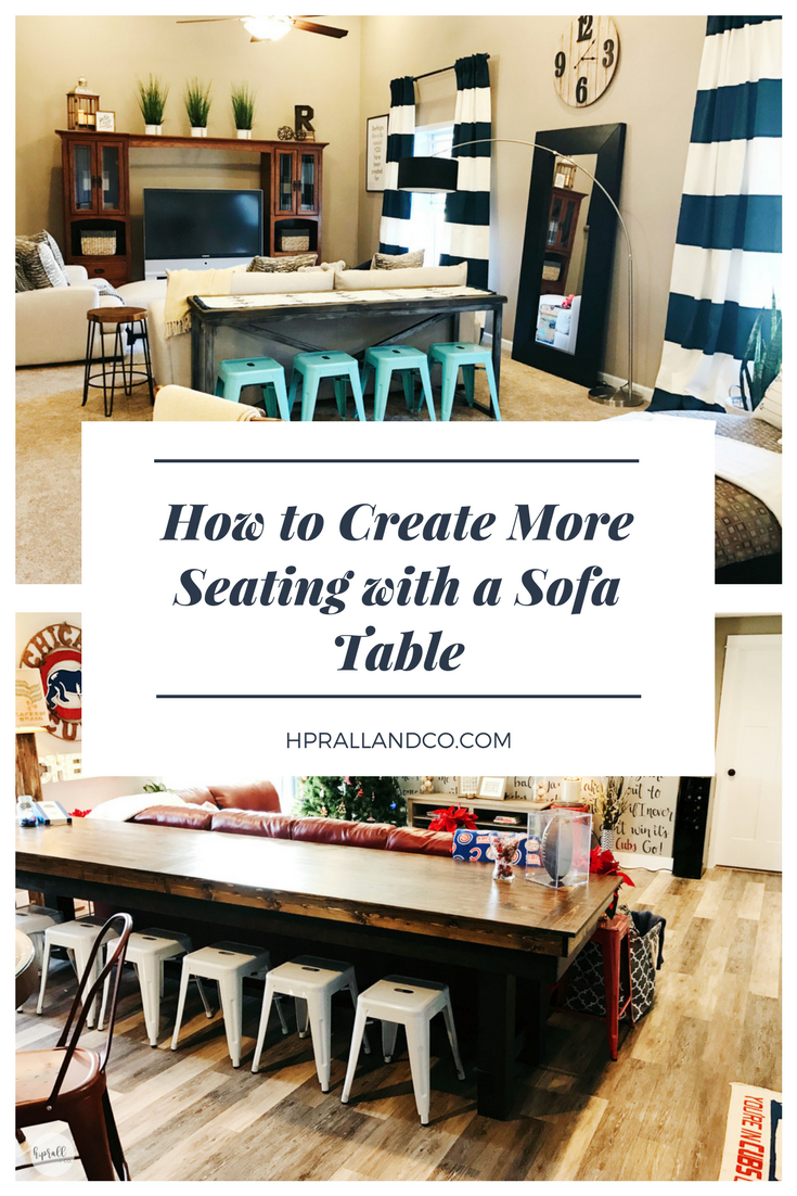 How to Create More Seating with a Sofa Table via H.Prall & Co. | hprallandco.com