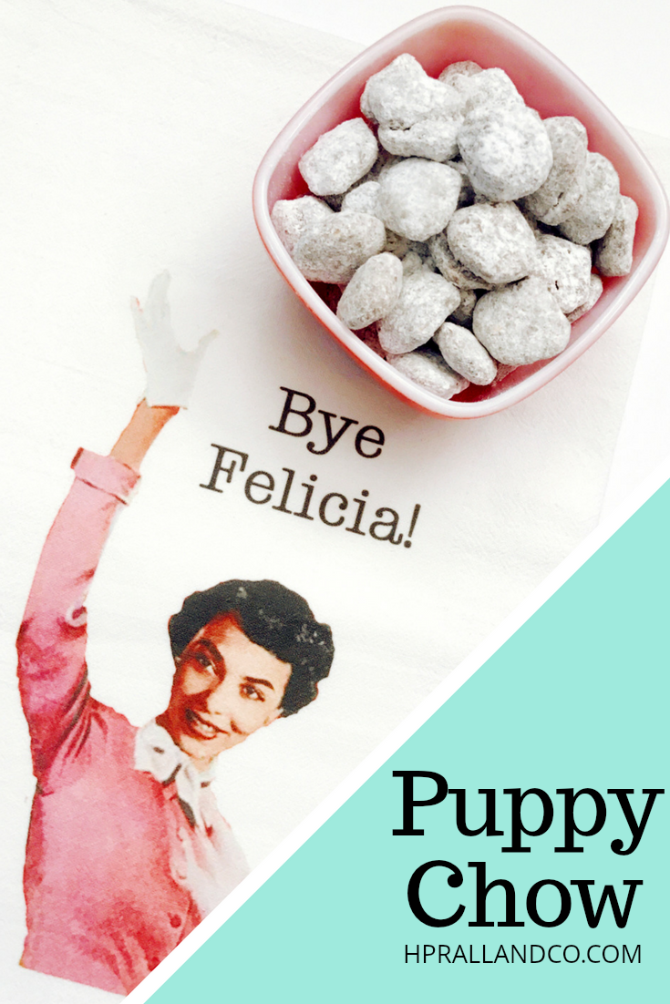 Puppy Chow recipe from H.Prall & Co.   Interior Decorating Blog at hprallandco.com