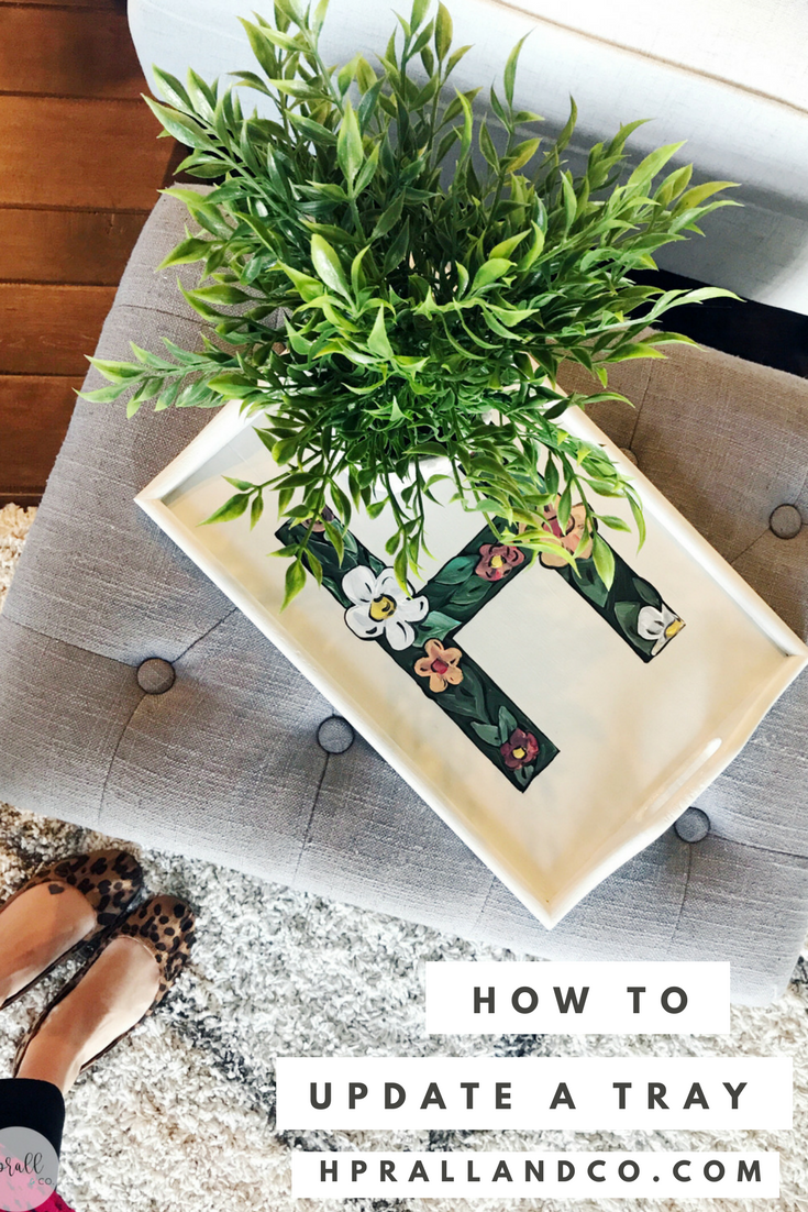 How to Update a Tray from hprallandco.com | H.Prall & Co. Interior Decorating in Des Moines, IA