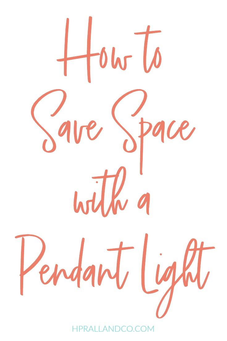 How to Save Space with a Pendant Light