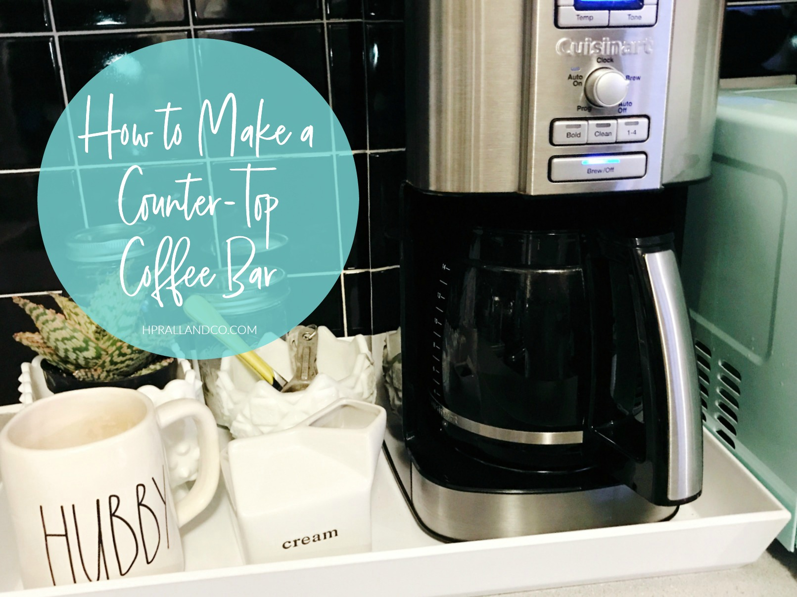 How to Make a Counter-Top Coffee Bar from hprallandco.com