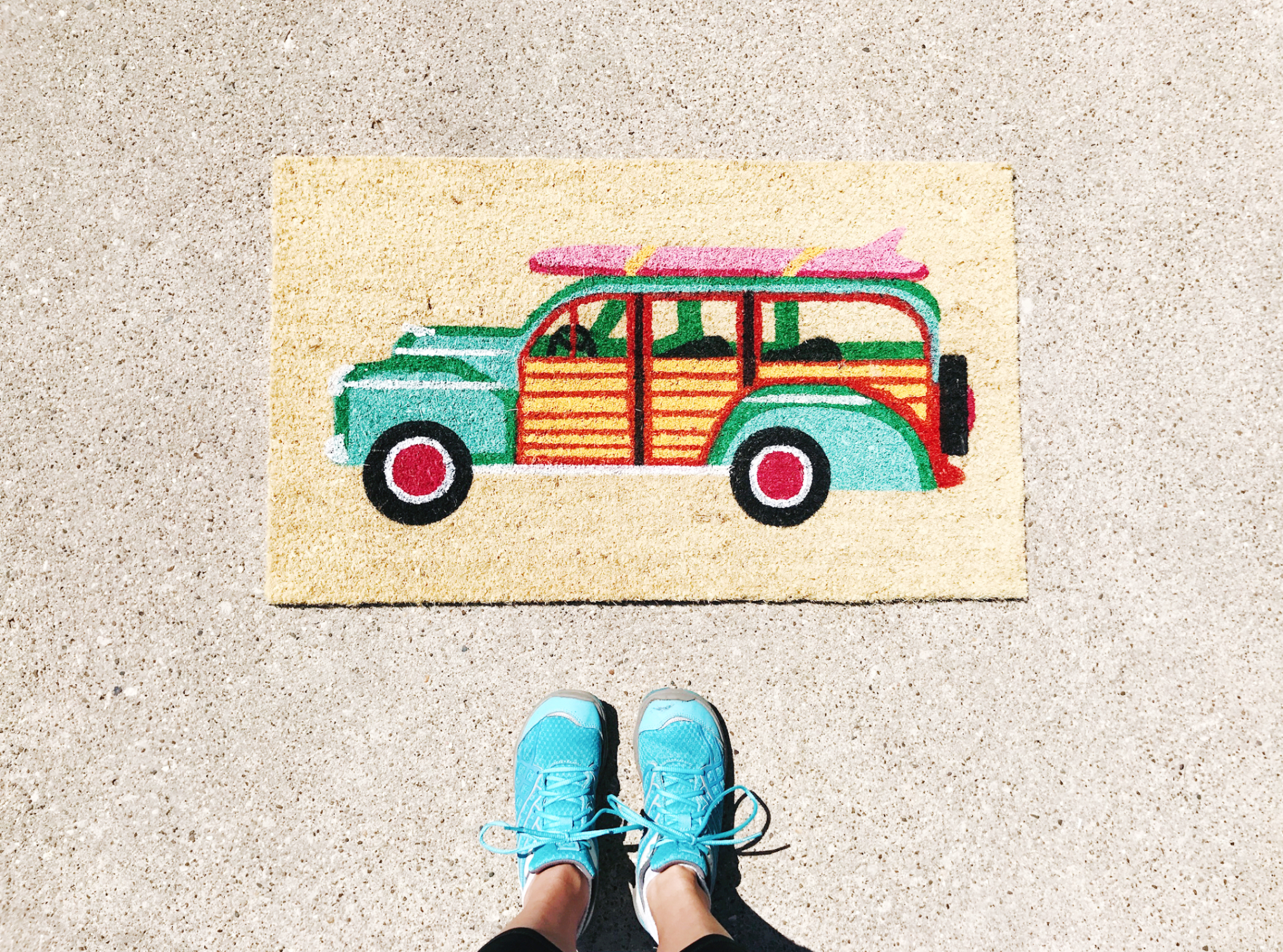 I'm sharing my tip for how to keep your welcome mat from fading over at hprallandco.com