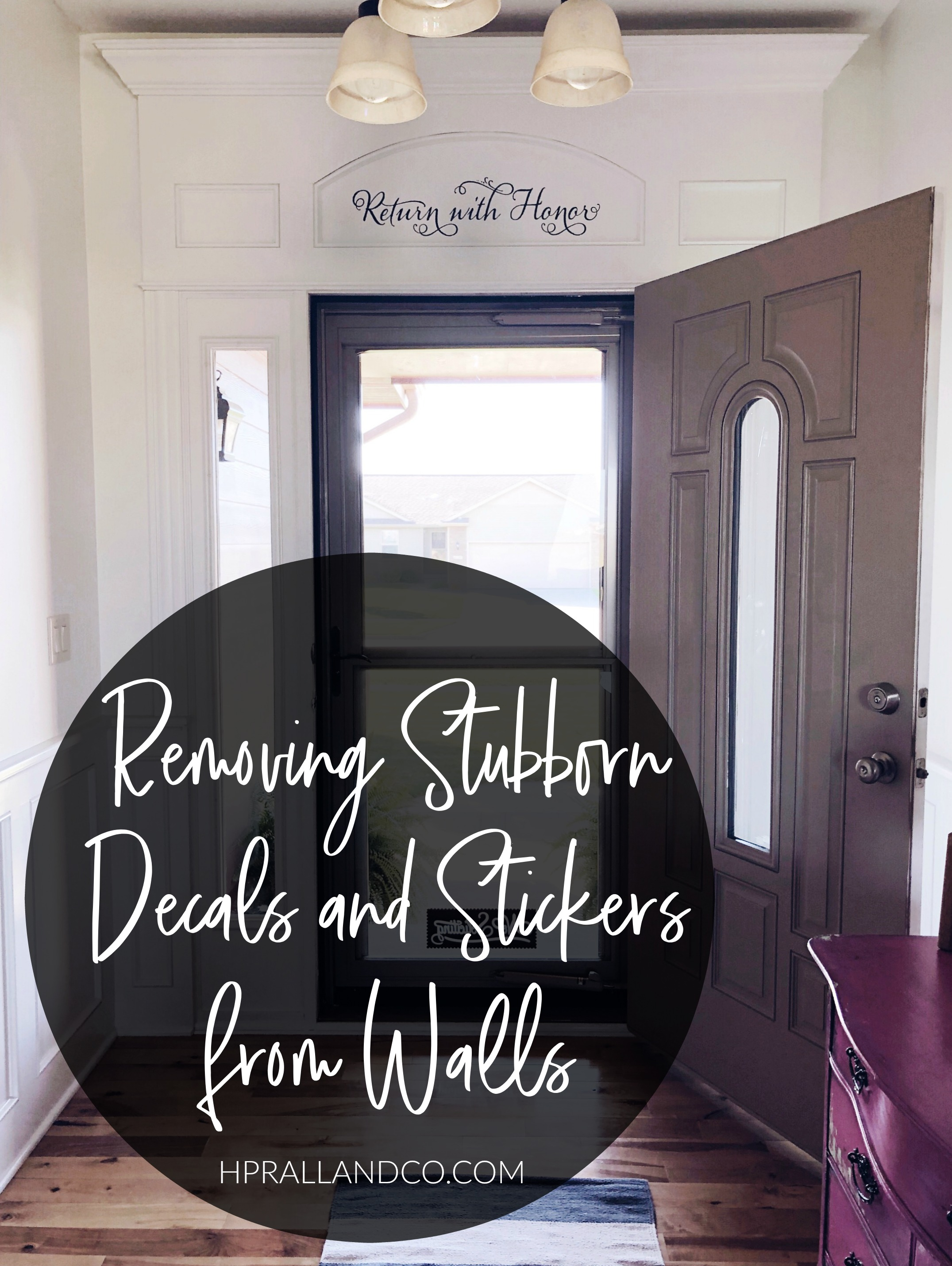 Removing Stubborn Decals and Stickers from Walls | hprallandco.com