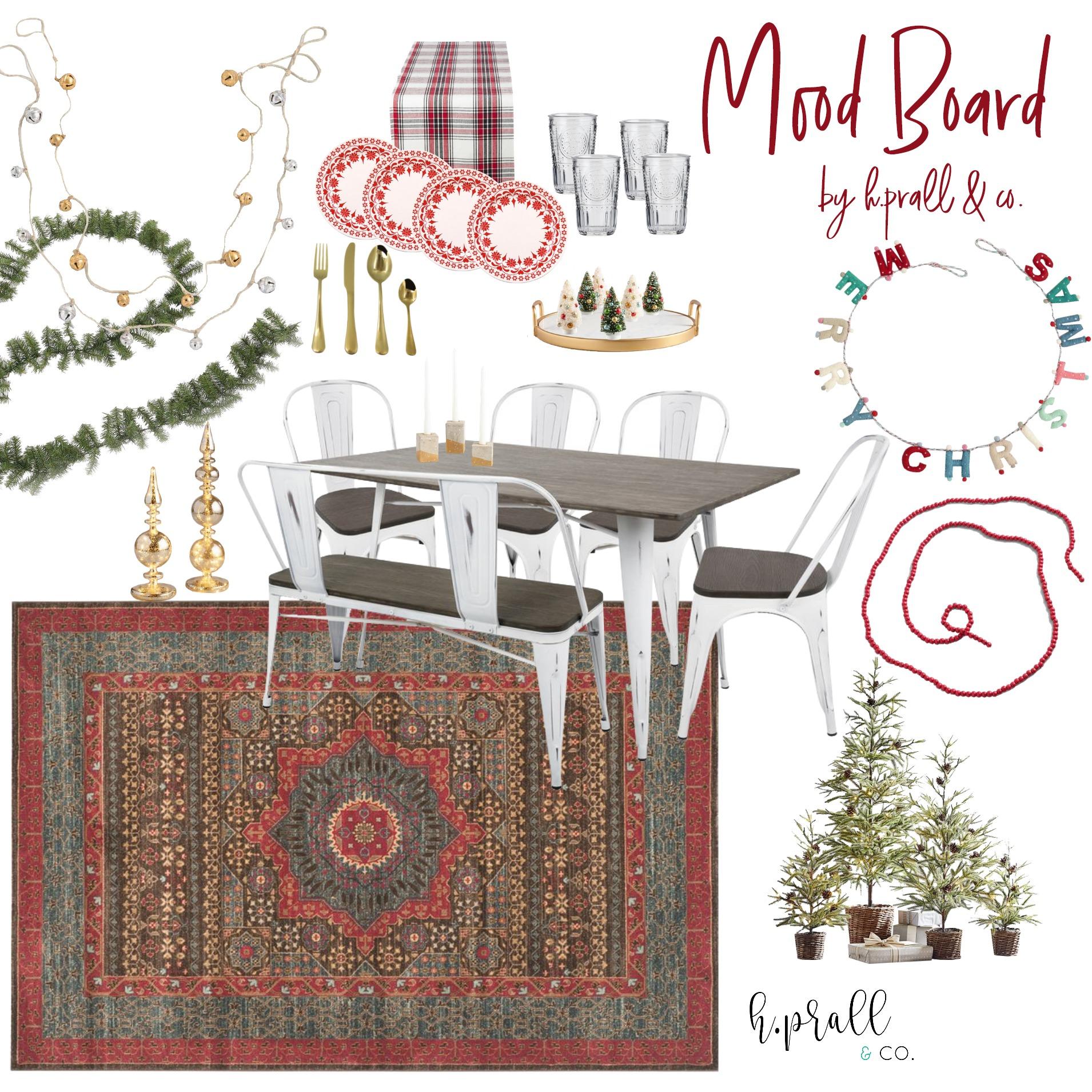 Christmas tablescape mood board design   hprallandco.com