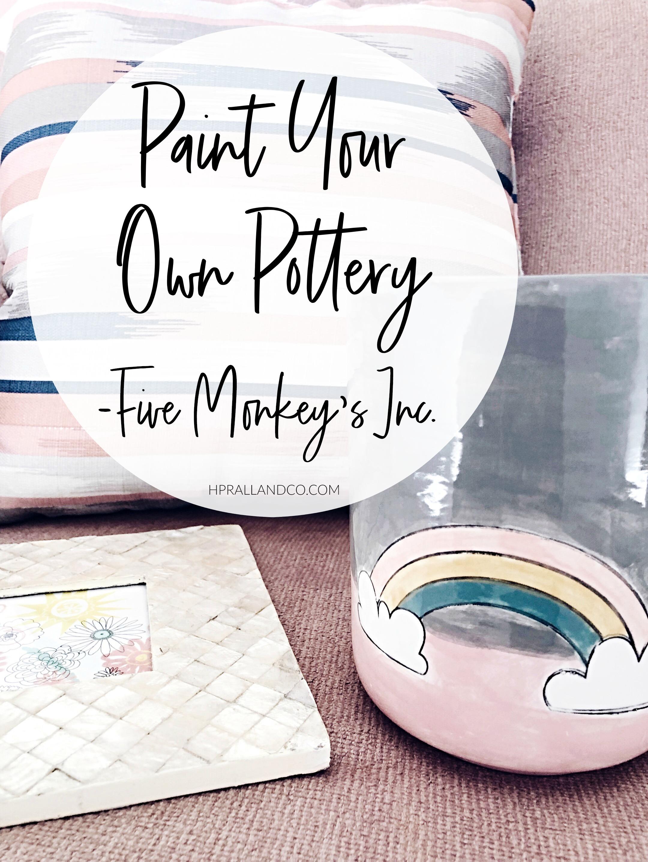 Paint Your Own Pottery-Five Monkeys Inc. Des Moines, IA | hprallandco.com