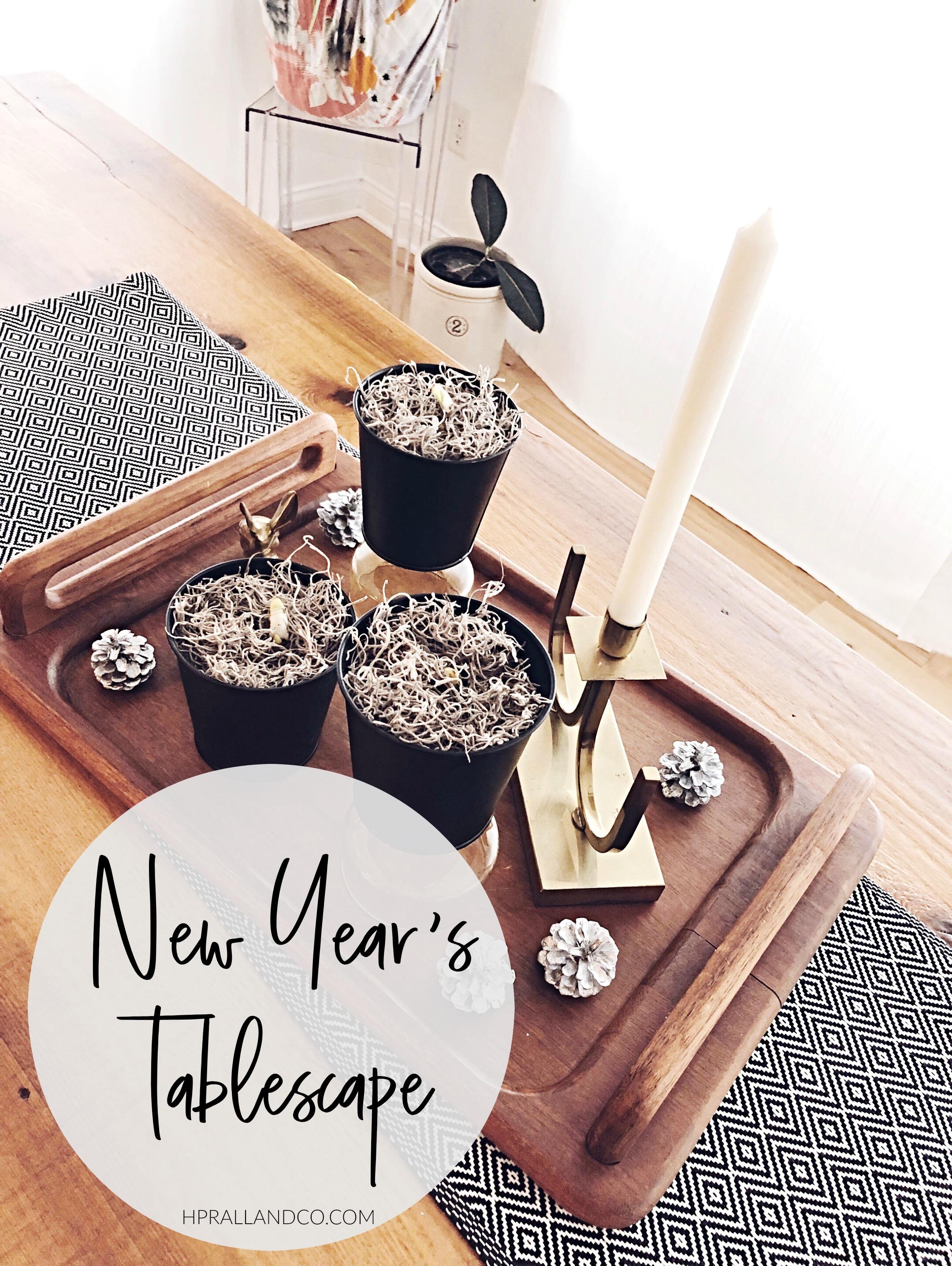New Year's Tablescape   hprallandco.com   H.Prall & Co. Interior Decorating
