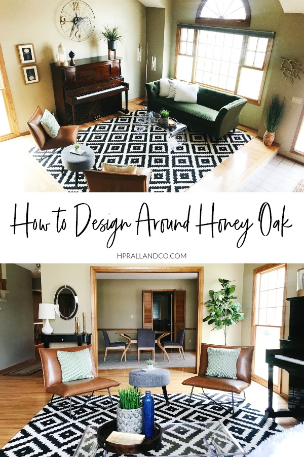 How to Design Around Honey Oak | H.Prall & Co. Interior Decorating | hprallandco.com