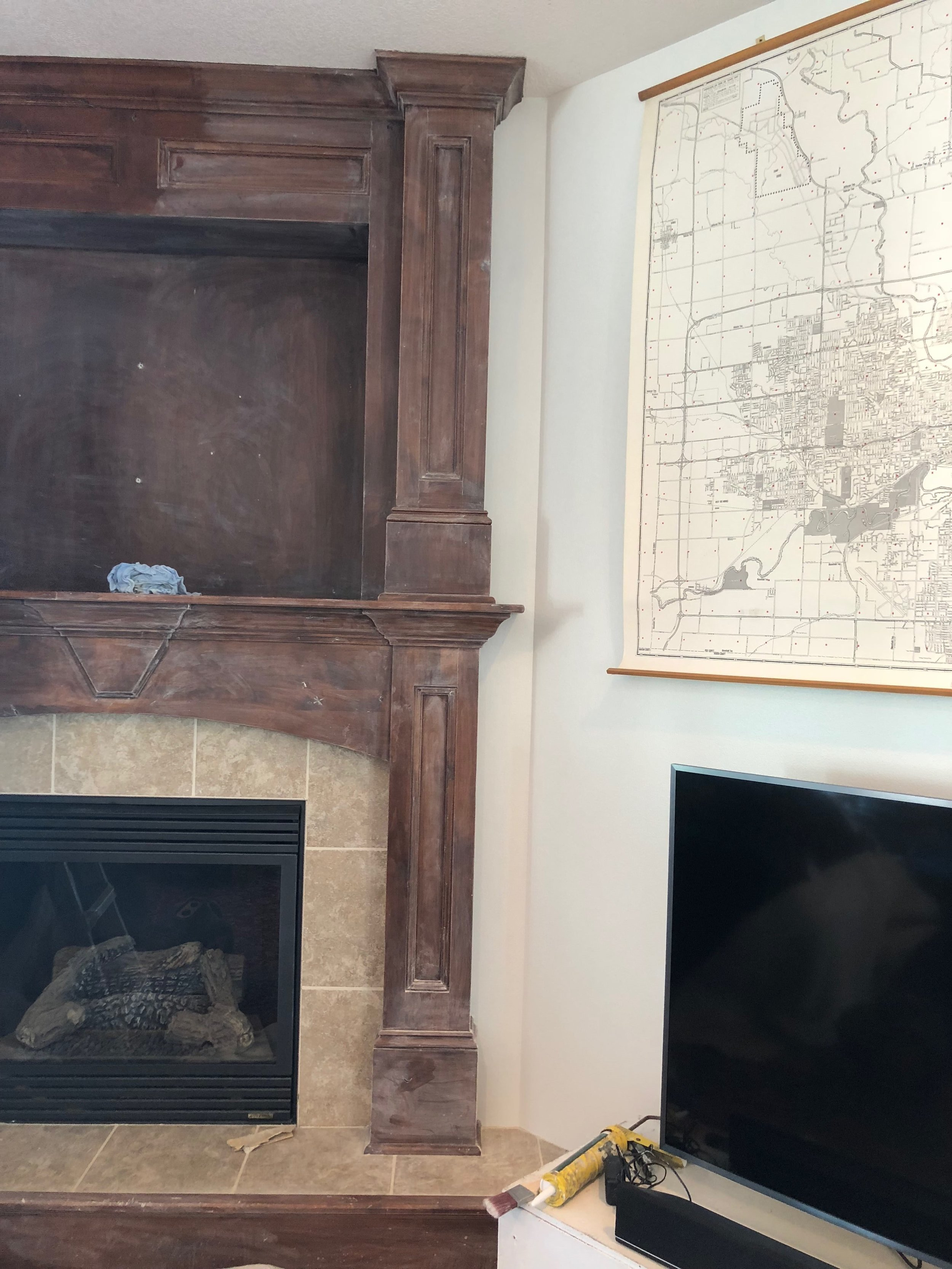 Drab to Fab Fireplace Makeover by hprallandco.com | H.Prall & Co. Interior Decorating