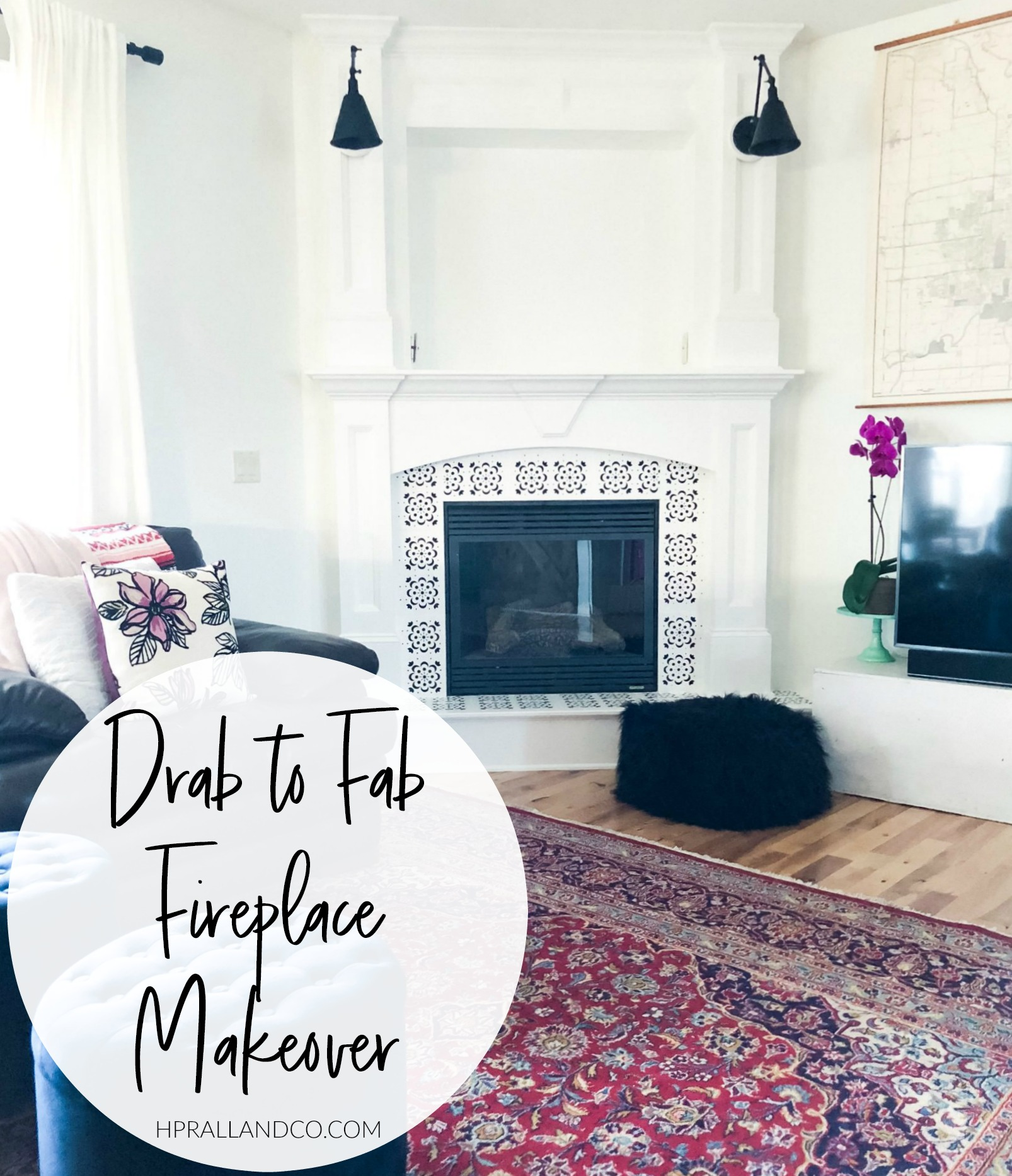 Drab to Fab Fireplace Makeover from hprallandco.com | H.Prall & Co. Interior Decorating