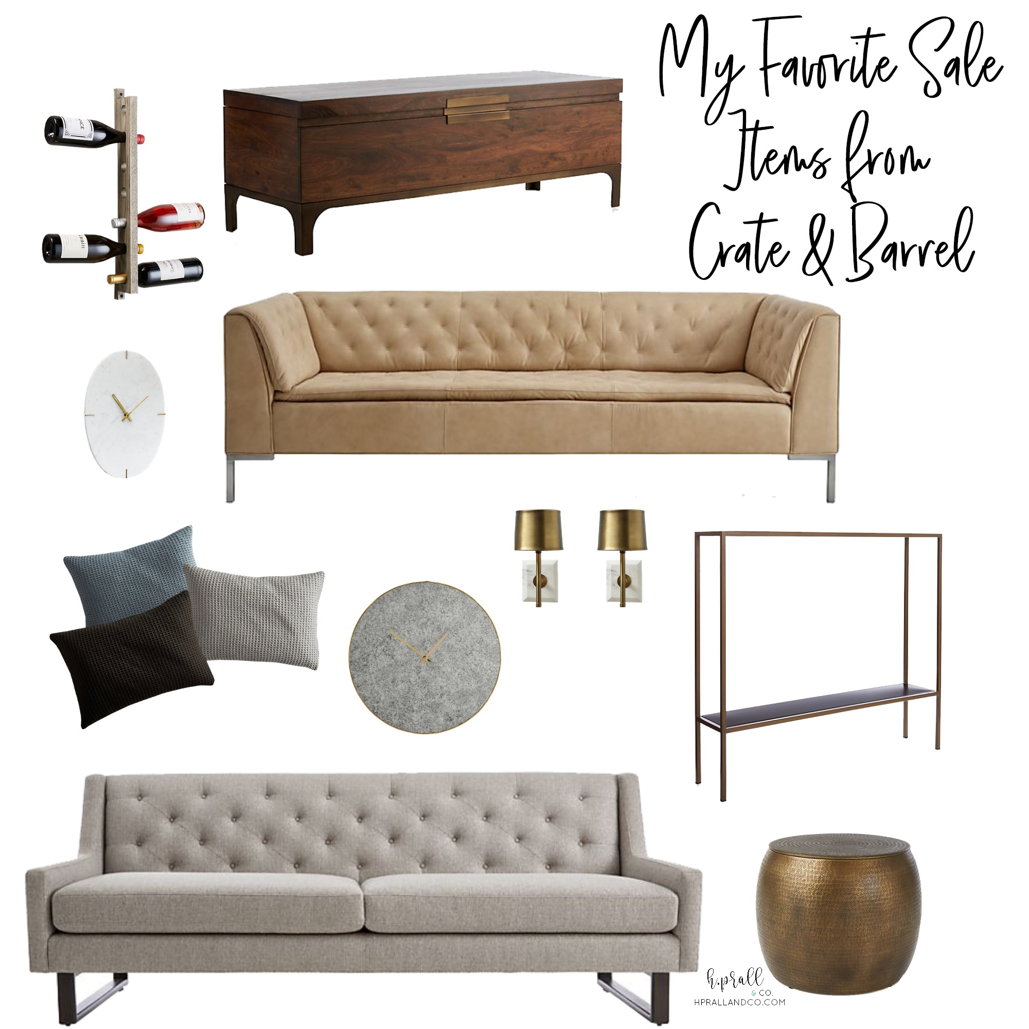 I'm sharing my favorite sale items from Crate & Barrel over at hprallandco.com! H.Prall & Co. Interior Decorating Des Moines, IA