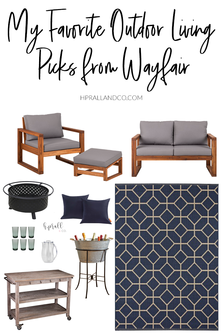 I'm sharing my favorite outdoor living picks from Wayfair over at hprallandco.com! | H.Prall and Co. Interior Decorating
