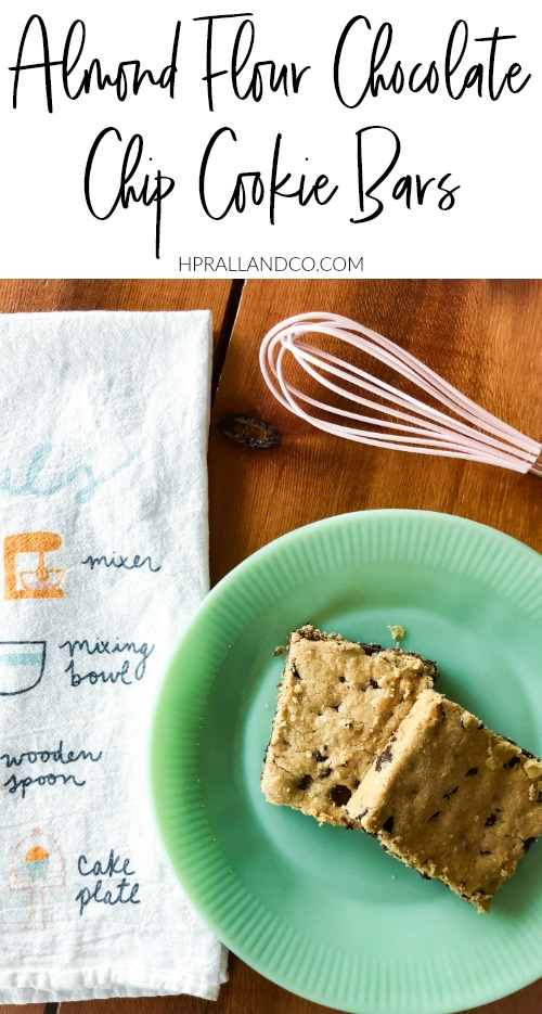 Almond Flour Chocolate Chip Cookie Bars Recipes from hprallandco.com! | H.Prall and Co. Interior Decorating