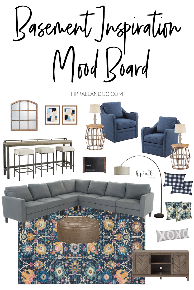 Basement Inspiration Mood Board design by hprallandco.com! | H.Prall and Co. Interior Decorating