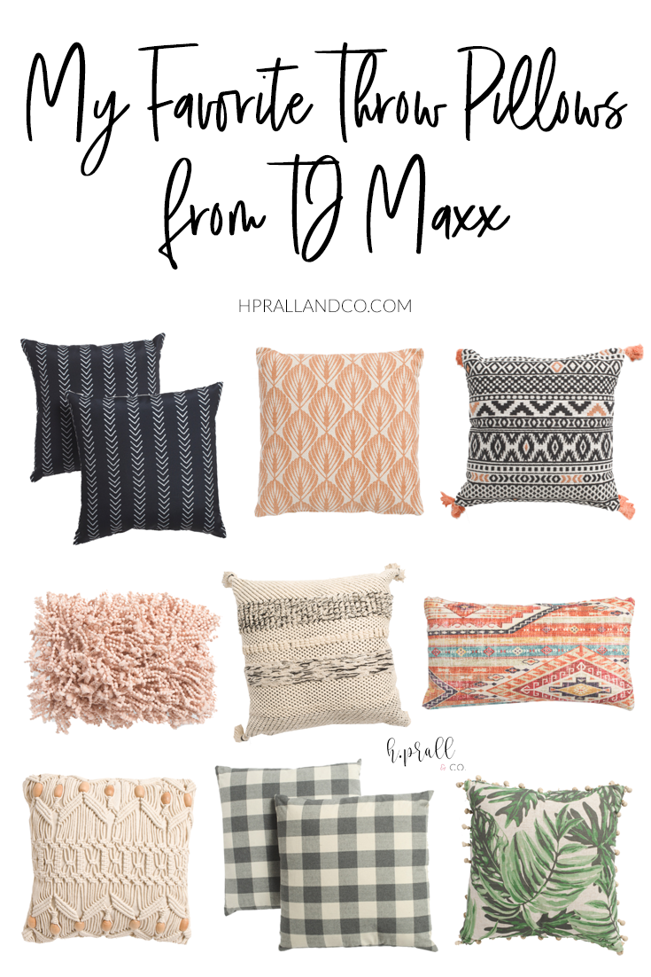 I'm sharing my favorite throw pillows from TJ Maxx over at hprallandco.com! | H.Prall and Co. Interior Decorating