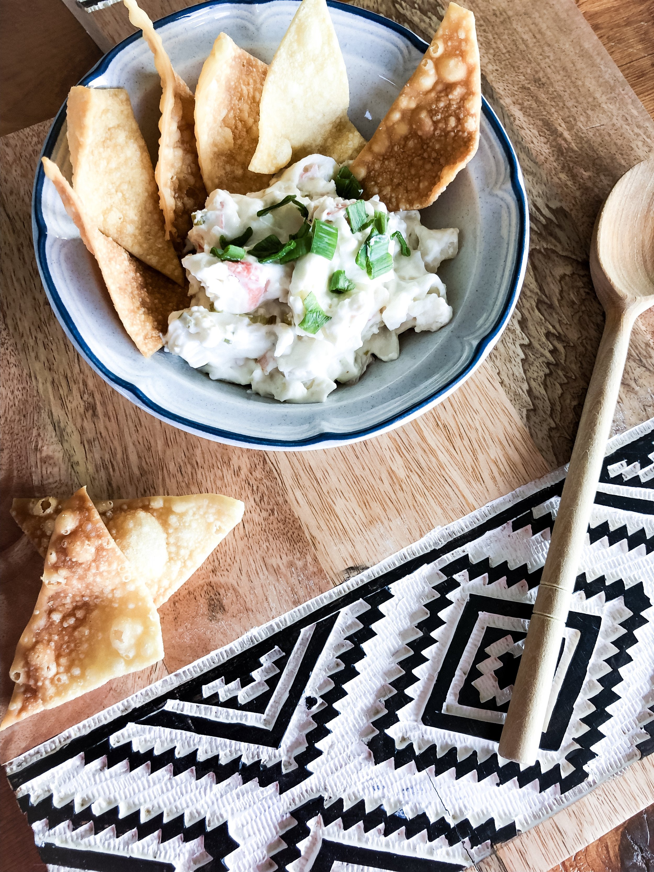 I can't get this Crab Rangoon Dip out of my mind! I've made it twice lately for pot-lucks…and still want more!