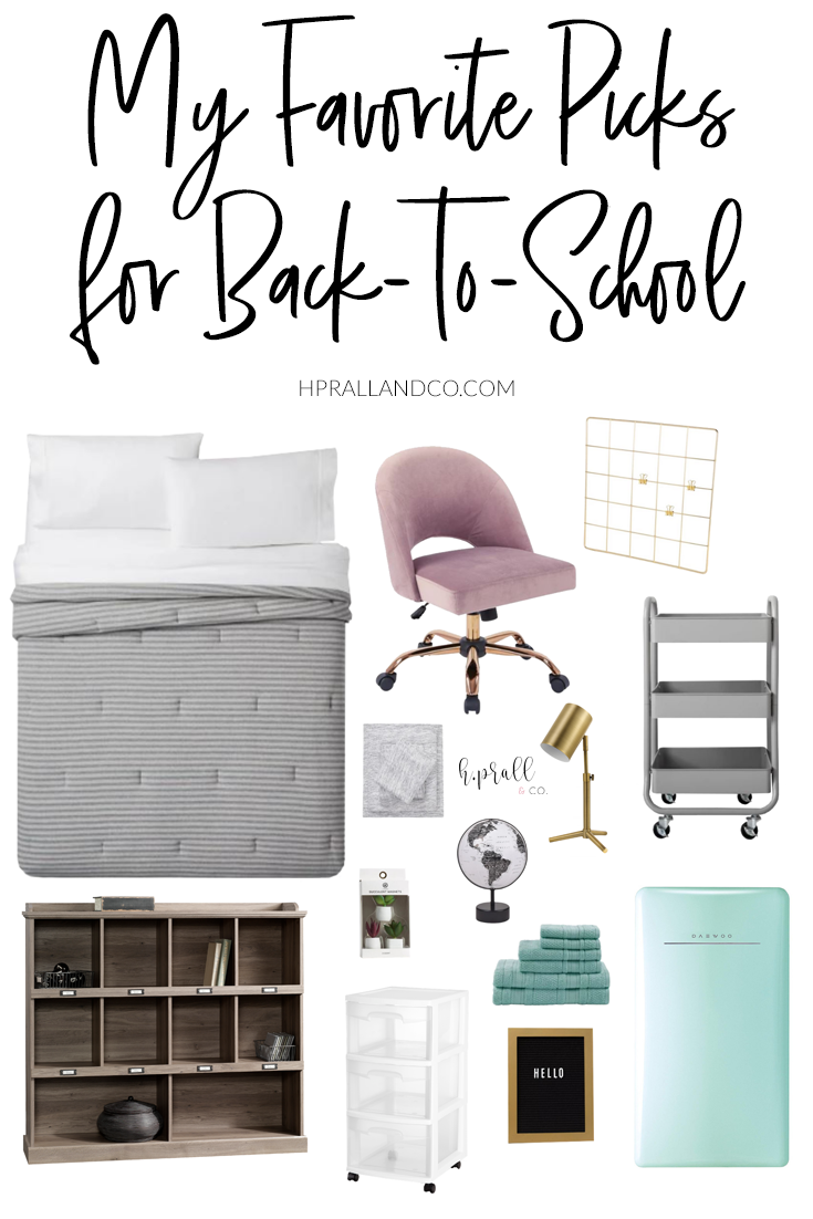 I'm sharing a few of my favorite back-to-school items with you here that will make getting back into the swing of the school routine a little bit easier! I'm taking a little of the guess work out of what to look for, from desks and chairs, bedding, and towels, to organizing tools and a bit of decor. HPrallandCo.com