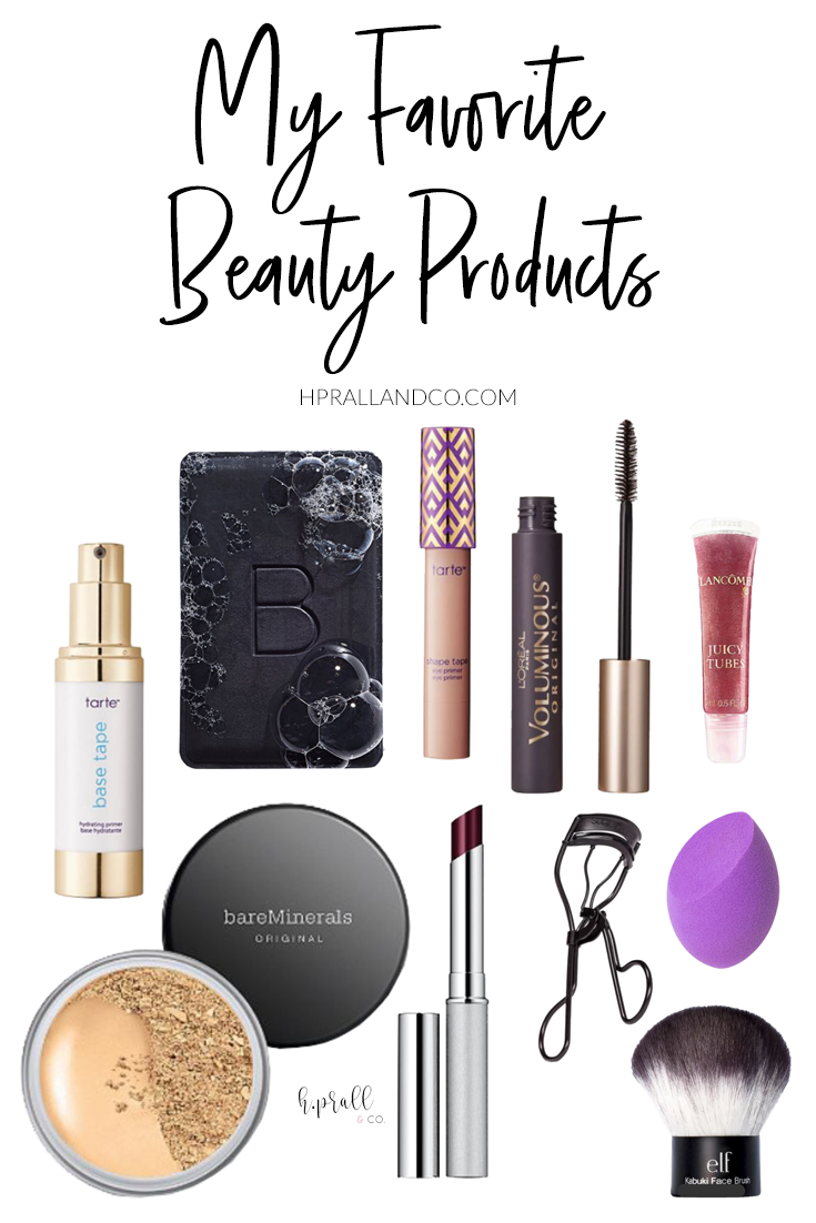 I'm sharing my favorite beauty products over at HPrallandCo.com!