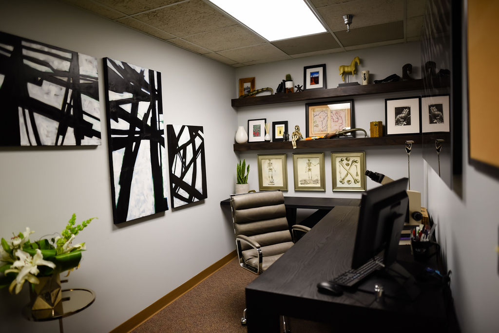 Josh Cook Office Makeover by H. Prall & Co. | H. Prall & Co. Interior Decorating | Des Moines, IA
