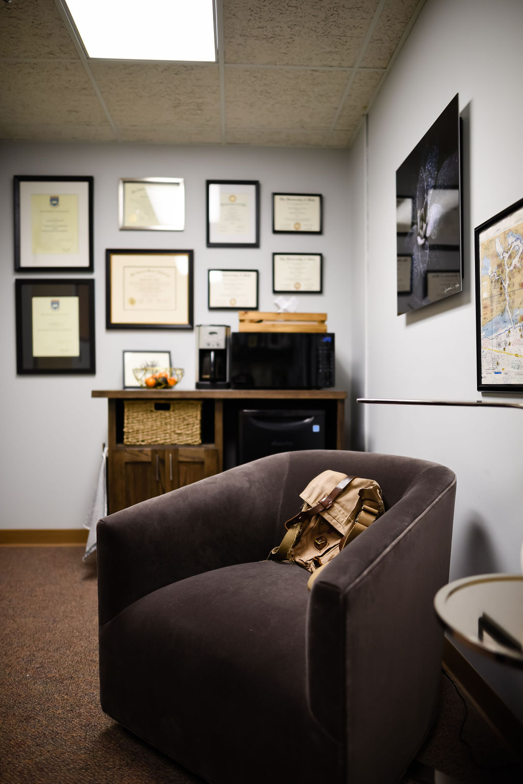 Josh Cook Office Makevoer from hprallandco.com | H. Prall & Co. Interior Decorating | Des Moines, IA