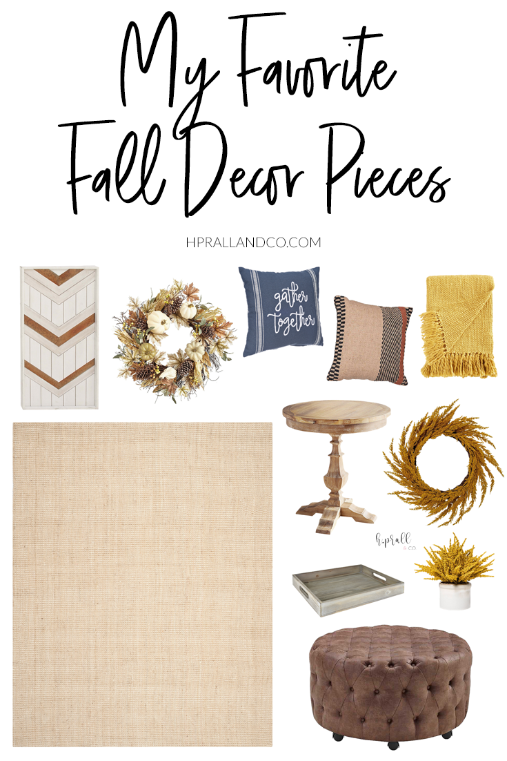 I'm sharing my favorite fall decor pieces over at HPrallandCo.com!