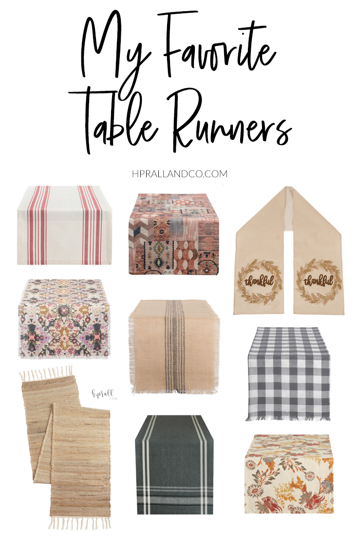 I'm sharing my favorite table runners over at HPrallandCo.com!