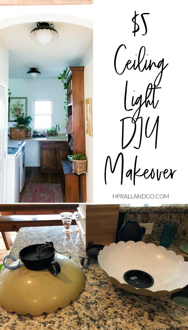 5 Ceiling Light Diy Makeover