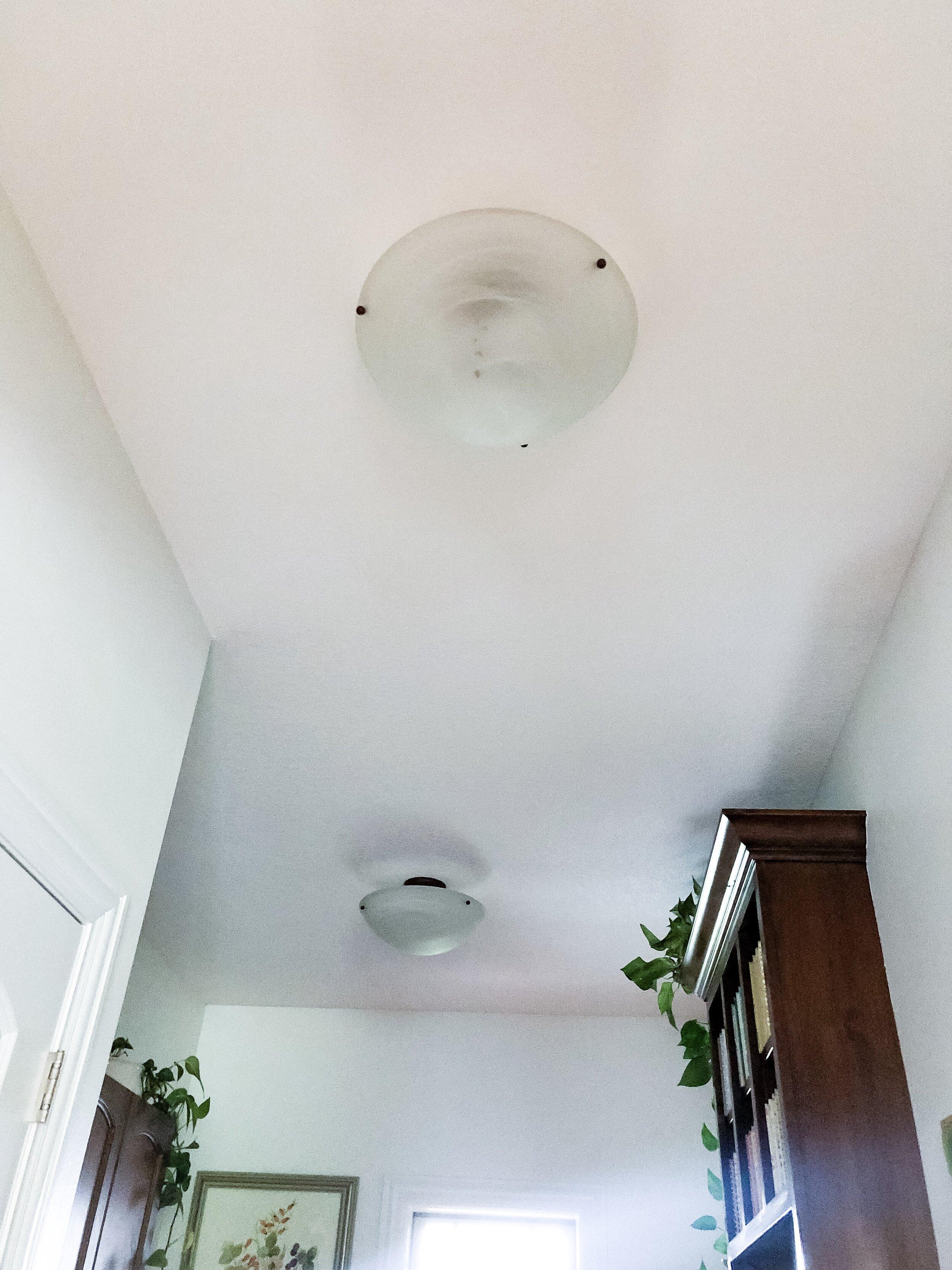 $5 Ceiling Light DIY Makeover from hprallandco.com   H. Prall & Co. Interior Decorating   Des Moines, IA