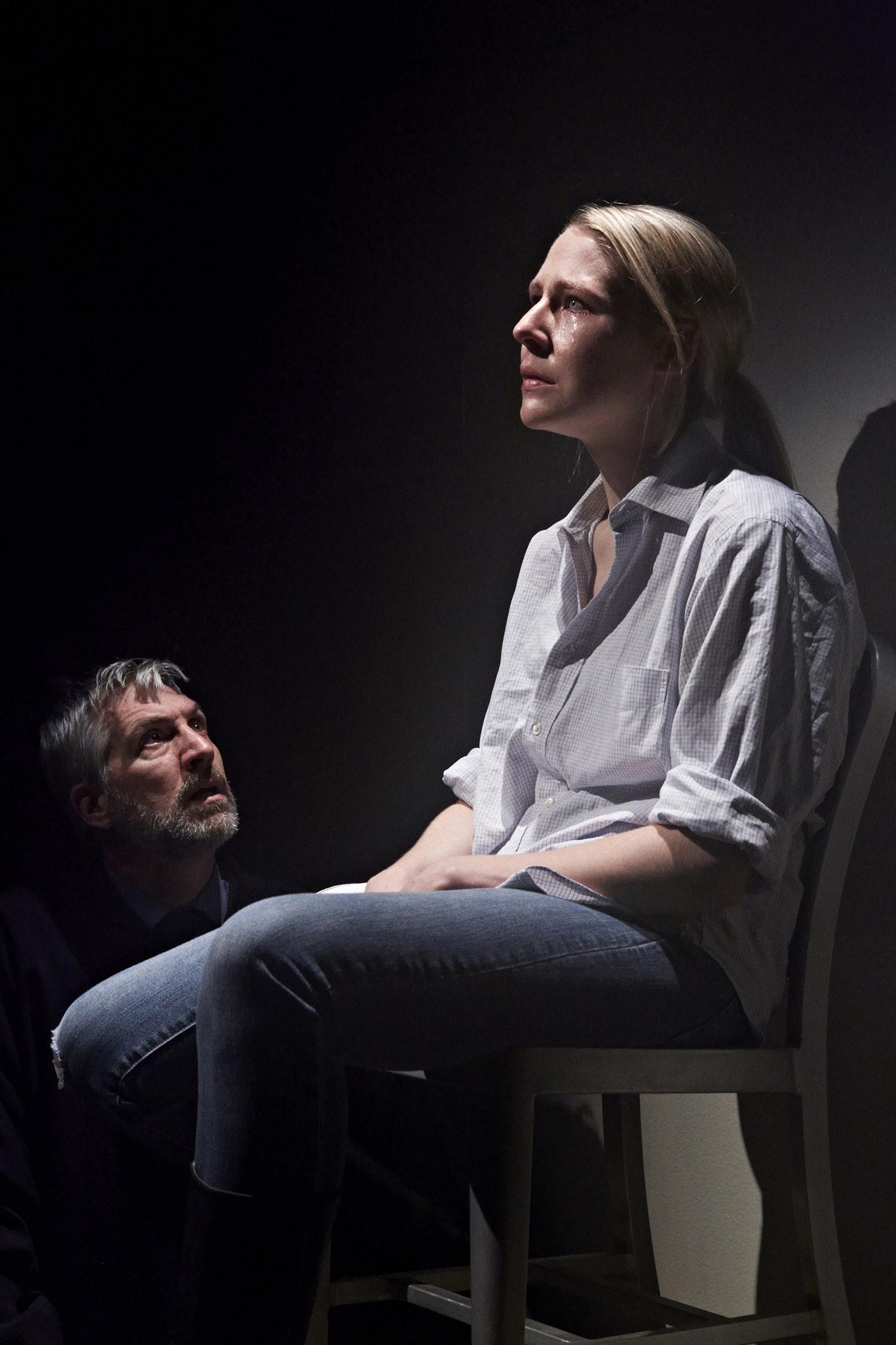 Stephan Wolfert and Samantha Steinmetz. Lighting Designer Christina Giannelli.