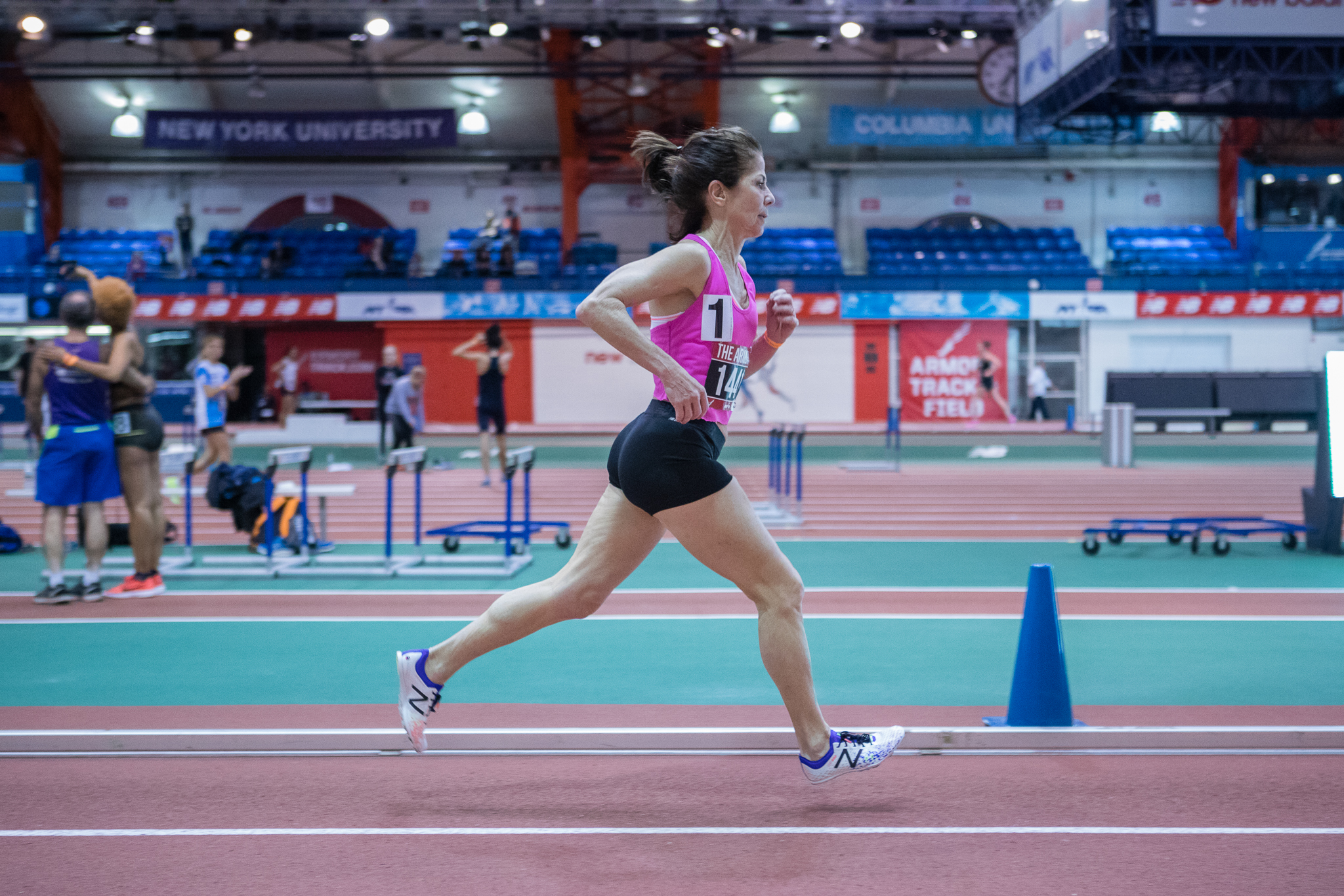 Kathyrn Martin set the W65 World Record in the mile, running it in 5:51.
