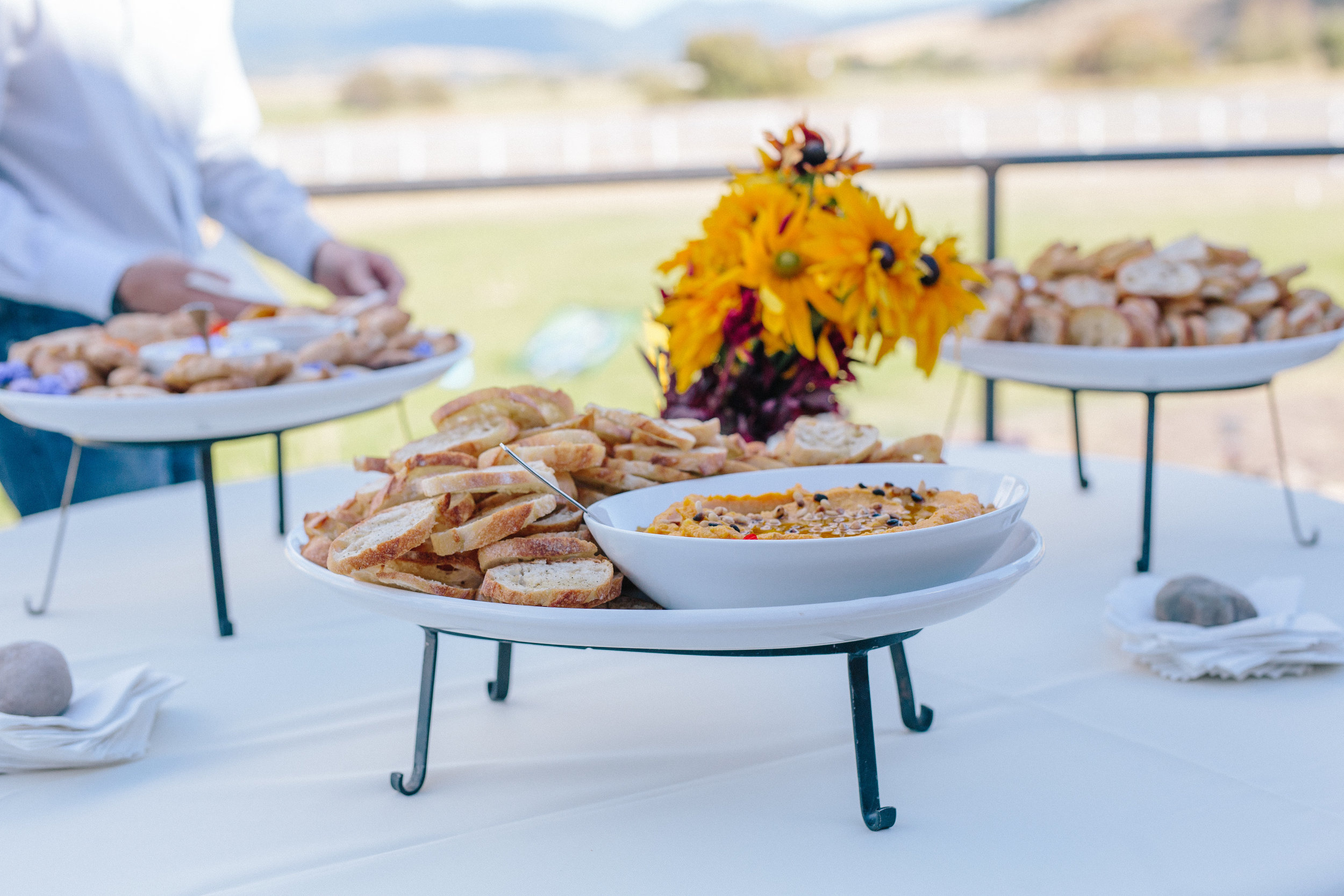 Riversong Gourmet created a delicious spread for the reception.  Photo By Dina Remi Studios.