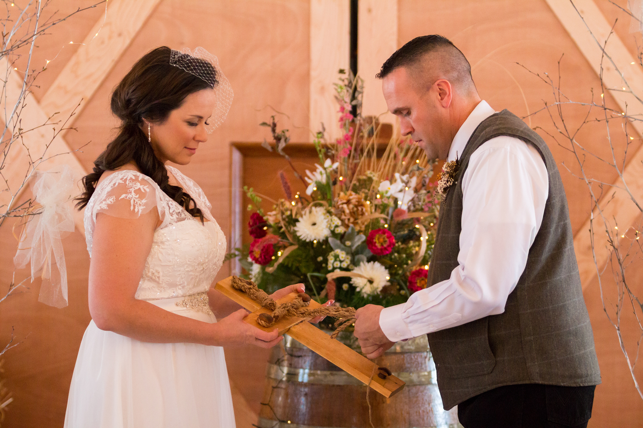 The bride and groom had a very symbolic and meaningful ceremony. Photo by Aaron B Photos.