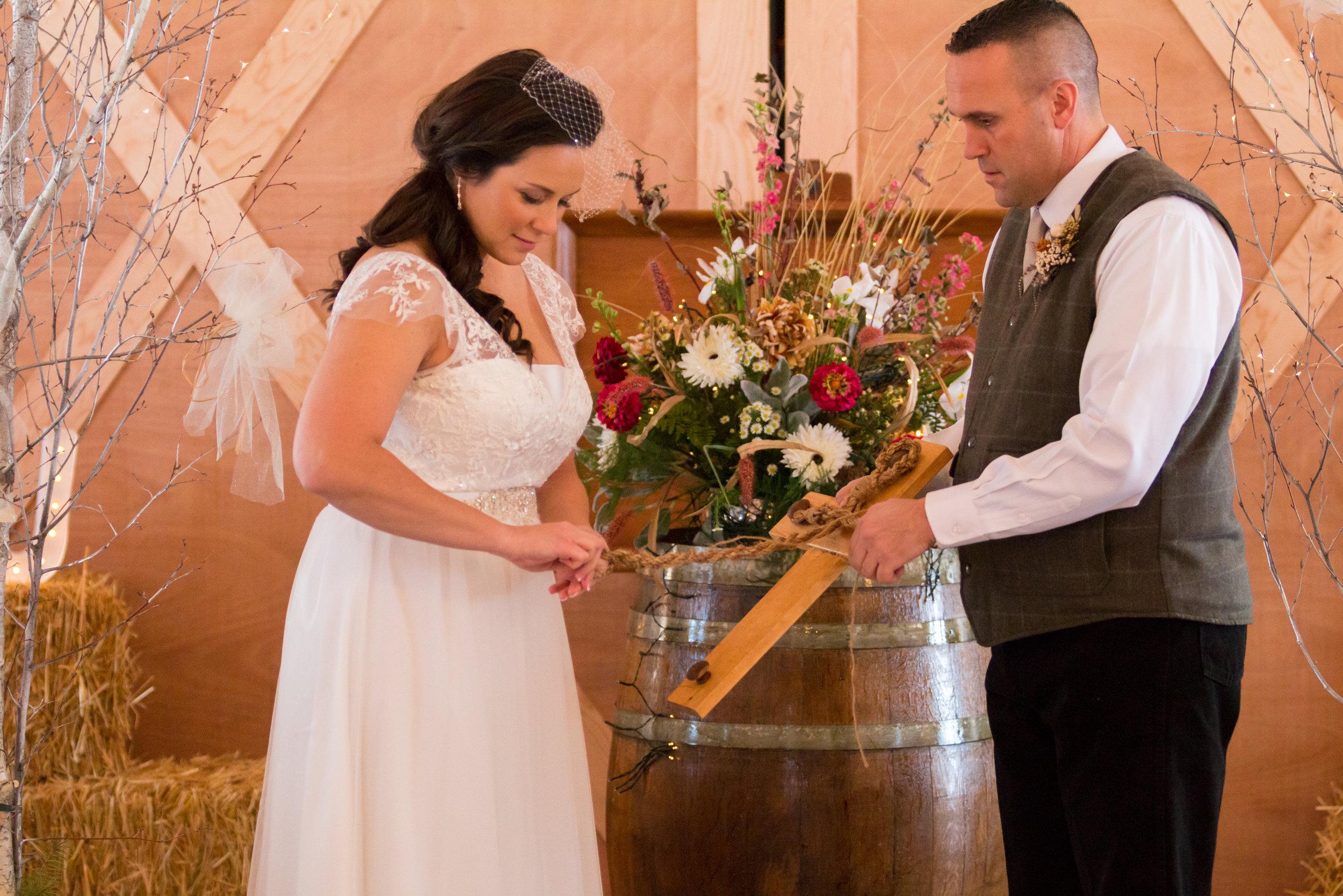 Rugged Horizon Winter Wedding Ceremony