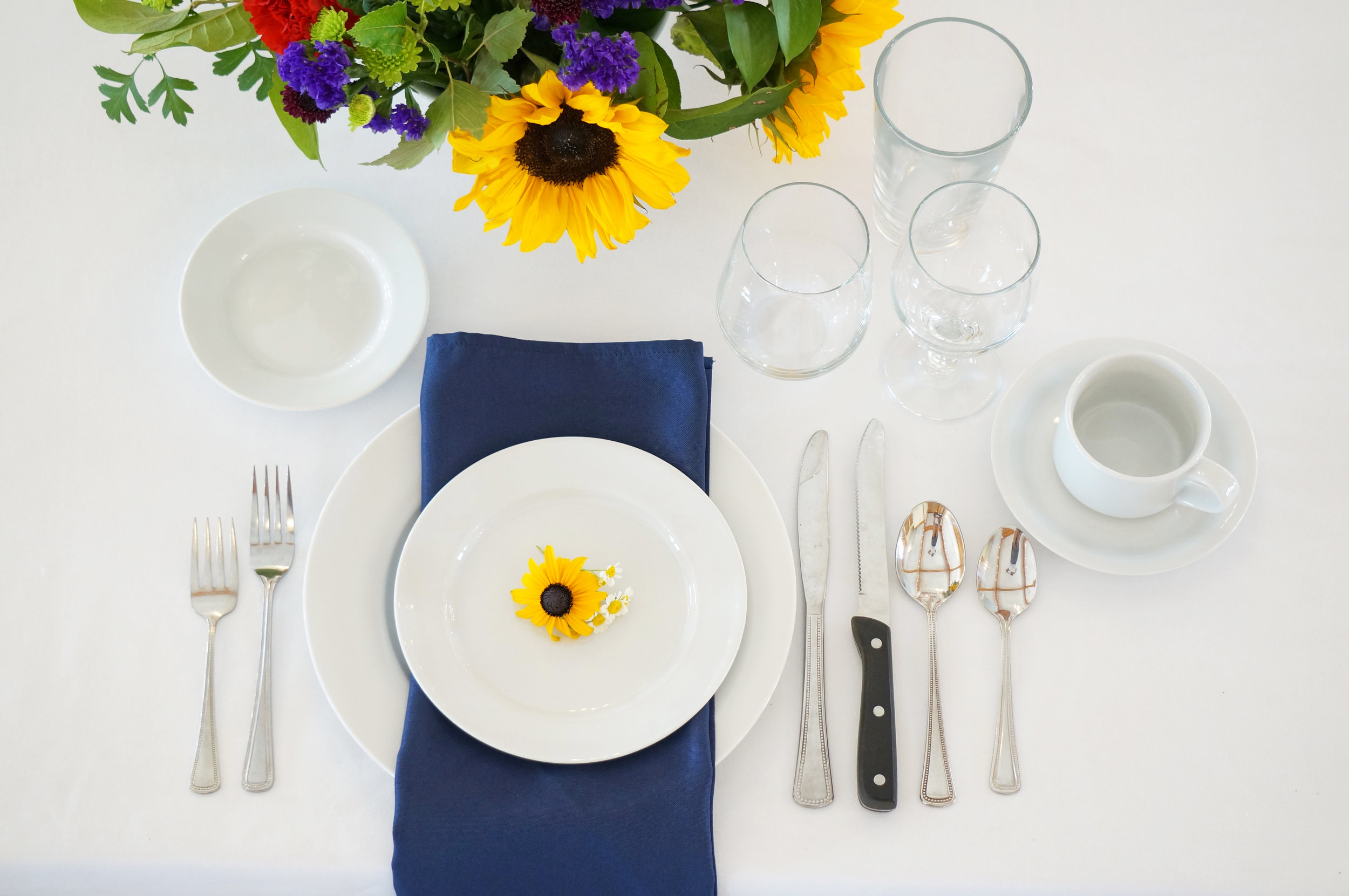 Classic White China Place Settings